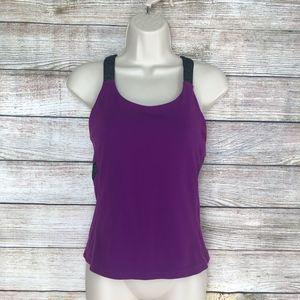 Lululemon Athletica Tank Top Purple & Gray Size 8